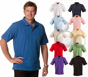 Mens Cotton Polo Size S M L XL 2XL 3XL 4XL 5XL Sport Golf Shirt Top