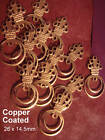 12 COPPER COATED FINDINGS EARRINGS CHARMS 26mm LONG 99 CENTS