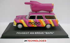 Peugeot 404 5 Door Estate Car 'MAPA' Roof Mounted Hand 1/43 Scale New In Case