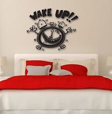 Wall Stickers Vinyl Decal Positive Alarm Clock Wake Up for Bedroom (ig898)