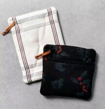 Hearth & Hand with Magnolia Stripe Plaid & Black Berry Pot Holder 2pk ~ Hot Pads