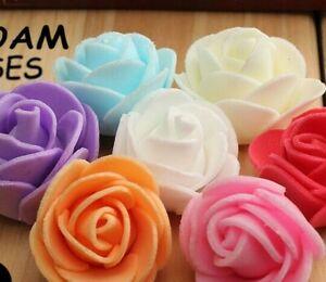 500pcs Mini Foam 3cm Roses Wedding Craft Flower Party Decor Favour Many Colour