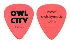 Owl City Adam Young Orange Guitar Pick - 2012 Tour