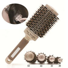 Thermal Professional Ceramic And Ionic Round Barrel Hair Brush with Boar Bristle