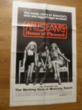 MUSTANG: THE HOUSE THAT JOE BUILT - 1978 - DOCUMENTARY 1 SHEET FOLDED - 27 X 41