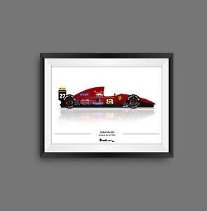 Jean Alesi Ferrari F92A F1 Print - Scuderia GP