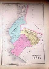 PERÚ,departamento litoral de Piura.Paz Soldán.Geografía del Perú 1865.