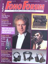 Fono Forum 1/89 Focht  Va3p,  O. Bär, Jecklin JJ Float, Stax Lambda / Sigma Pro
