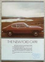 FORD CAPRI L XL GT GXL Car Sales Brochure Sept 1972 L Reg
