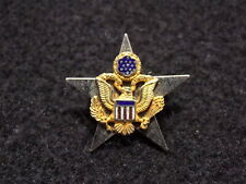 Post-WWII US Army General Staff Sterling Silver Insignia