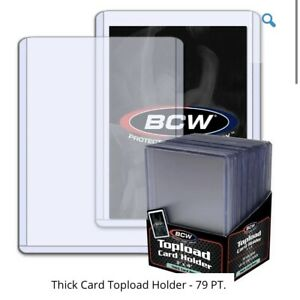 1 Pack-BCW Thick 79pt /2mm Toploader Trading Card Holders 25 Per Pack Toploaders