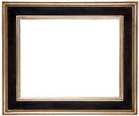16 x 20  Black W/ Red Rub Finish & Hand Applied Silver Leaf  * Beautiful Frame *