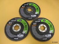 Three (3) Warrior 4-1/2 In. 36 Grit Flap Disc 67639