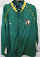 Vintage Reebok Boston Celtics Green Zip Warm Up Track Jacket Size 2XL