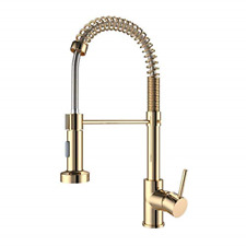 Onyzpily Gold Kitchen Taps Kitchen Sink Mixer tap with Solid Brass Commercial UK