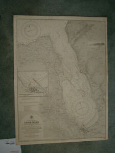 Vintage Admiralty Chart 1403 SCOTLAND - LOCH RYAN & STRANRAER HARBOUR 1900 edn