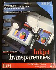"IBM Inkjet Transparencies w/ Removable Sensing Strip 8.5""x11"" -11 sheets"
