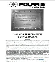 2001 HIGH Performance Polaris Snowmobile service manual , Polaris 9916690