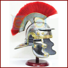 Medieval Gladiator Costume Greco Roman Centurion Helmet Armor + Red Crest Plume
