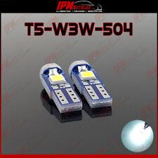 T5 W3W 504 Kit Set Xenon White Canbus LED Bulbs Sidelight/Parking Lights