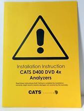 Audio Development Installation Instruction Manual CATS D400 DVD 4x Version 1.0