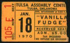 Vanilla Fudge (Band)-Mark Stein-1970 Concert Ticket Stub-Tulsa Assembly Center