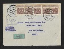 CZECHOSLOVAKIA TO BRAZIL AIR MAIL COVER 1936