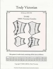 Schnittmuster Truly Victorian TV 492: 1890's Victorian Corselets