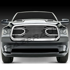 13-17 Dodge RAM 1500 Big Horn Chrome Front Packaged Grille+Replacement Shell