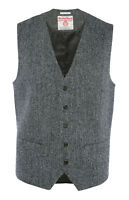 MENS HARRIS TWEED PRIMARK HERRINGBONE WAISTCOAT JACKET SLIM FIT BRITISH BNWT S