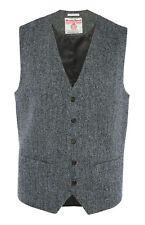 MENS HARRIS TWEED PRIMARK HERRINGBONE WAISTCOAT JACKET SLIM FIT BRITISH BNWT XL