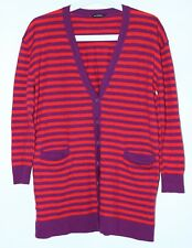 Marimekko Wool Button Down Striped Cardigan With Front Pockets Size S/M
