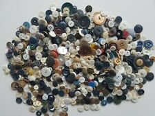 Lot Vintage Estate Antique Buttons 1.3 lbs. Sewing Arts Crafts Mixed Colors