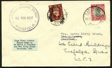 South Africa: Nov.1937 Betty Kirby-Green & Arthur Clouston Cape Town to London
