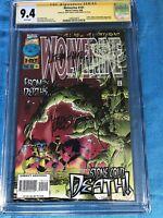 Wolverine #101 - Marvel - CGC SS 9.4 NM - Signed by Adam Kubert, Larry Hama