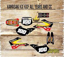 KAWASAKI KX KXF 65 85 125 250 450 FULL GRAPHICS KITSTICKERS-DECALS-HOTWHEELS