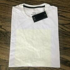 ARMANI EXCHANGE MEN'S WHITE SHORT SLEEVE Logo Block SLIM FIT T-SHIRT NWT $50