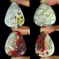 Natural Crazy Lace Agate Oval Pear Cushion Cabochon Loose Gemstone Collection