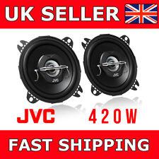 """JVC 10cm 2-way Coaxial Speakers 4"""" Door Car Speakers CS-J420X Peak Power 420W"""