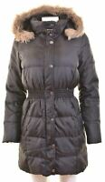 CREW CLOTHING Womens Padded Coat Size 10 Small Black Nylon  EV15