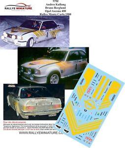 Decals 1/43 Ref 1752 Vauxhall Ascona 400 Kullang Rally Mounted Carlo 1980 WRC