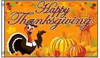 3x5 Smiling Turkey with Pumpkins Happy Thanksgiving Flag Holiday Banner New