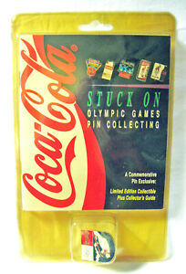 Coca-Cola STUCK ON OLYMPIC GAMES Bear Pin & Collector's Guide '96 Atlanta Sealed
