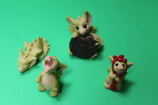 New Listing4 Pocket Dragons Lot My Big Cookie Red Ribbon Tiny Bit Tired Take Your Medicine