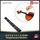 4/4 3/4 1/2 1/4 Violin Practice Finger Guide Sticker Fingerboard for Beginner