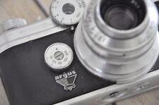 Vtg Rangefinder ARGUS C4 C-FOUR CAMERA 50mm f/ 2.8 Coated CINTAR LENS CASE Prop