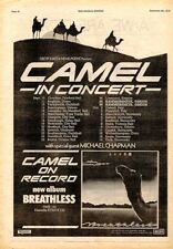 CAMEL / MICHAEL CHAPMAN in concert 1978 UK Poster size Press ADVERT 16x12""