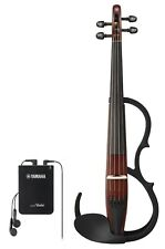 Yamaha YSV-104 Electric Violin - Brown - Package - Bow, Violin Gig Case, Rosin,