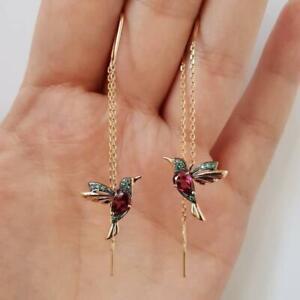Hummingbird Earrings Stud Long Drop Earring Bird Pendant Tassel Earrings Jewelry