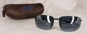 Maui Jim Breakwall Sunglasses MJ 422-02 63 13 127 Made In Japan with Case & Bag